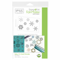 Therm O Web - Christmas - Stamp n Foil - Foil-Mates - 5.5 x 8.5 - Baby It's Cold Outside