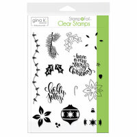 Therm O Web - Christmas - Stamp n Foil - Clear Acrylic Stamps - Holly Jolly