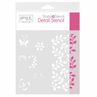 Therm O Web - Stamp 'n Stencil - 6 x 6 Stencil - Petals And Wings