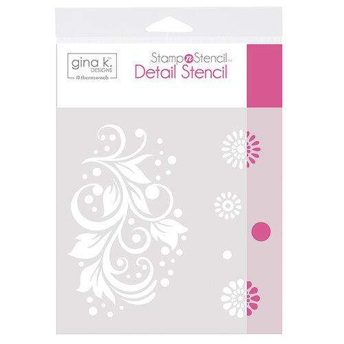 Therm O Web - Stamp 'n Stencil - 6 x 6 Stencil - Crazy Daisy