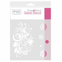 Gina K Designs - Stamp 'n Stencil - 6 x 6 Stencil - Crazy Daisy