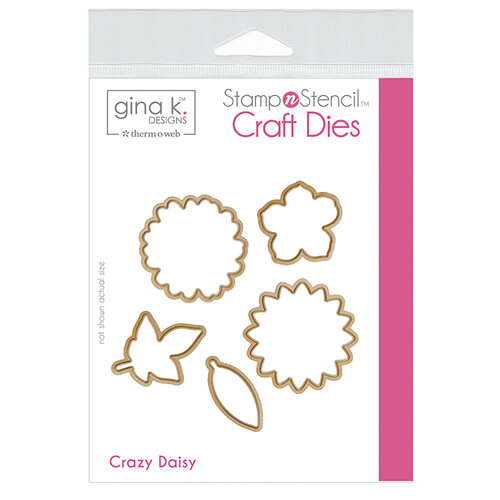 Therm O Web - Stamp 'n Stencil - Die Set - Crazy Daisy
