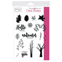 Gina K Designs - Stamp 'n Stencil - Clear Photopolymer Stamps - Autumn Wishes