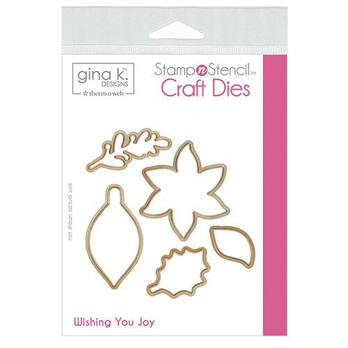 Gina K Designs - Christmas - Stamp 'n Stencil - Die Set - Wishing You Joy
