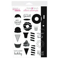 Rina K Designs - Stamp 'n Stencil - Clear Photopolymer Stamps - Sweet Stuff