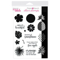Rina K Designs - Stamp 'n Stencil - Clear Photopolymer Stamps - Sending Sunshine