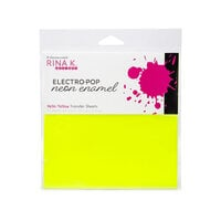 Rina K Designs - 6 x 6 Neon Enamel Transfer Sheets - Hello Yellow - 12 Pack