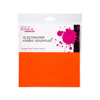 Rina K Designs - 6 x 6 Neon Enamel Transfer Sheets - Orange Glow - 12 Pack