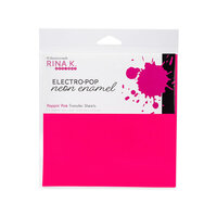 Rina K Designs - 6 x 6 Neon Enamel Transfer Sheets - Poppin' Pink - 12 Pack