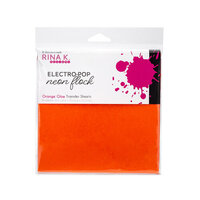 Rina K Designs - 6 x 6 Neon Flock Sheets - Orange Glow - 6 Pack