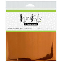 Therm O Web - Deco Foil - 6 x 6 Transfer Sheet - Carrot Orange