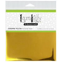 Therm O Web - Deco Foil - 6 x 6 Transfer Sheet - Sunshine Yellow