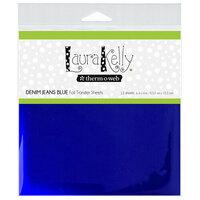 Therm O Web - Deco Foil - 6 x 6 Transfer Sheet - Denim Jeans Blue