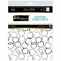 Therm O Web - iCraft - Deco Foil - 8.5 x 11 - Clear Designer Toner Sheets - Coffee Rings - 4 Pack