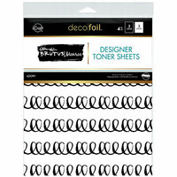 Therm O Web - iCraft - Deco Foil - 8.5 x 11 - Clear Designer Toner Sheets - Loopy - 4 Pack