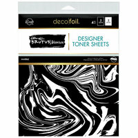 Therm O Web - iCraft - Deco Foil - 8.5 x 11 - Clear Designer Toner Sheets - Marble - 4 Pack
