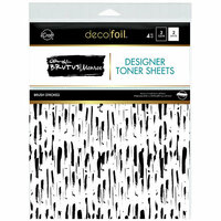 Therm O Web - iCraft - Deco Foil - 8.5 x 11 - Clear Designer Toner Sheets - Brush Strokes - 4 Pack