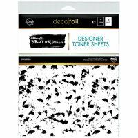 Therm O Web - iCraft - Deco Foil - 8.5 x 11 - Clear Designer Toner Sheets - Stressed - 4 Pack