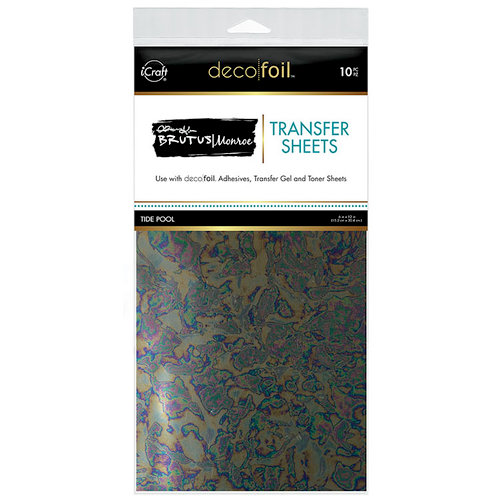 Therm O Web - iCraft - Deco Foil - 6 x 12 Transfer Sheet - Tide Pool - 10 Pack