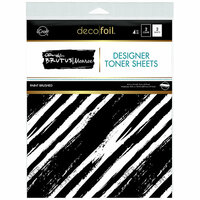Therm O Web - iCraft - Deco Foil - 8.5 x 11 - Designer Toner Sheets - Paint Brushed - 4 Pack