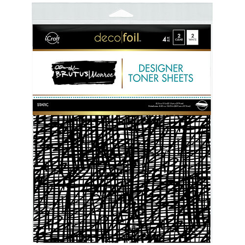 Therm O Web - iCraft - Deco Foil - 8.5 x 11 - Designer Toner Sheets - Static - 4 Pack