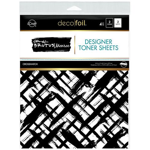 Therm O Web - iCraft - Deco Foil - 8.5 x 11 - Designer Toner Sheets - Crosshatch - 4 Pack