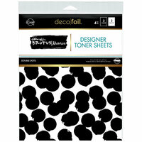 Therm O Web - iCraft - Deco Foil - 8.5 x 11 - Designer Toner Sheets - Double Dots - 4 Pack