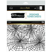 Therm O Web - Halloween - iCraft - Deco Foil - 8.5 x 11 - Designer Toner Sheets - Webbed - 4 Pack