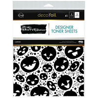 Therm O Web - Halloween - iCraft - Deco Foil - 8.5 x 11 - Designer Toner Sheets - Carved - 4 Pack