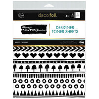 Therm O Web - iCraft - Deco Foil - 8.5 x 11 - Designer Toner Sheets - Jeepers Creepers - 4 Pack