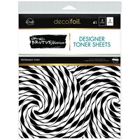 Therm O Web - iCraft - Deco Foil - 8.5 x 11 - Designer Toner Sheets - Peppermint Twist - 4 Pack