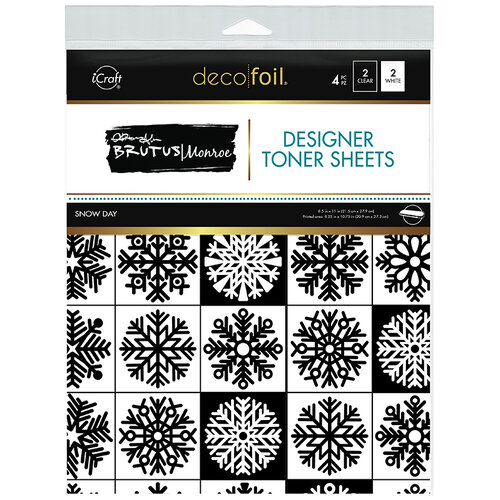 Therm O Web - Christmas - iCraft - Deco Foil - 8.5 x 11 - Designer Toner Sheets - Snow Day - 4 Pack