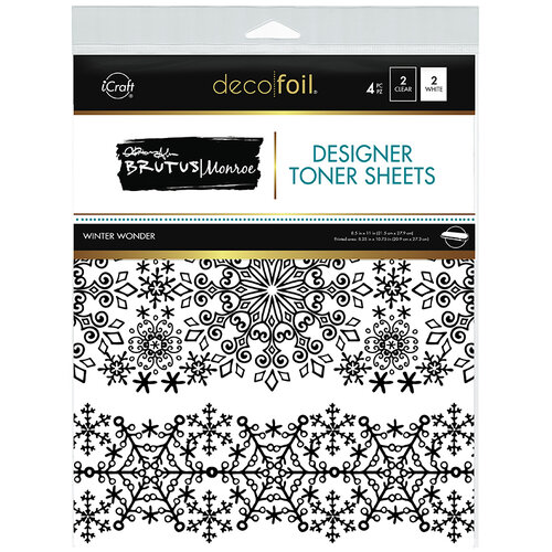 Therm O Web - Christmas - iCraft - Deco Foil - 8.5 x 11 - Designer Toner Sheets - Winter Wonder - 4 Pack