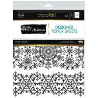 Therm O Web - Christmas - iCraft - Deco Foil - 8.5 x 11 - Designer Toner Sheets - Winter Wonder - 4 Pack