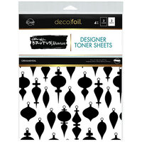 Therm O Web - Christmas - iCraft - Deco Foil - 8.5 x 11 - Designer Toner Sheets - Ornamental - 4 Pack