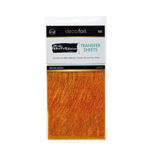 Therm O Web - iCraft - Deco Foil - 6 x 12 Transfer Sheets - Orange Sketch - 10 Pack