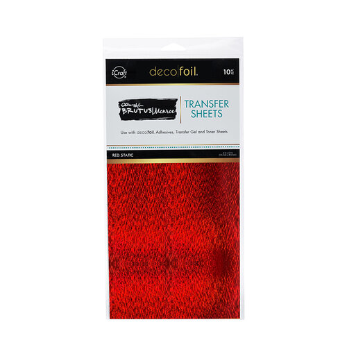 Therm O Web - iCraft - Deco Foil - 6 x 12 Transfer Sheets - Red Static - 10 Pack
