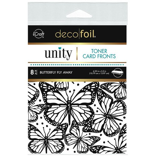 Therm O Web - Unity - Deco Foil - Toner Card Fronts - Butterfly Fly Away