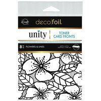 Therm O Web - Unity - Deco Foil - Toner Card Fronts - Flowers and Lines