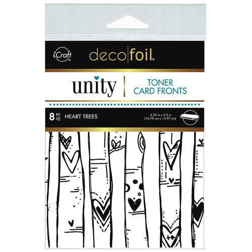 Therm O Web - Unity - Deco Foil - Toner Card Fronts - Heart Trees