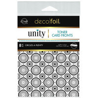 Therm O Web - Unity - Deco Foil - Toner Card Fronts - Circles a Plenty