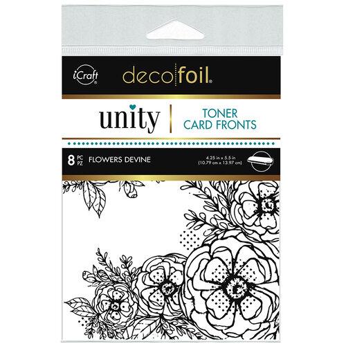 Therm O Web - Unity - Deco Foil - Toner Card Fronts - Flowers Devine