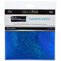 Therm O Web - iCraft - Deco Foil - 6 x 6 Transfer Sheets - Blue Waves - 16 Pack