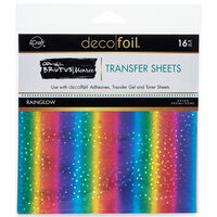 Therm O Web - iCraft - Deco Foil - 6 x 6 - Transfer Sheets - Rainglow - 16 Pack