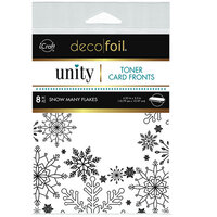 Therm O Web - Unity - Deco Foil - Toner Card Fronts - Snow Many Flakes
