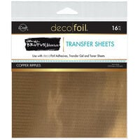 Therm O Web - iCraft - Deco Foil - 6 x 6 Transfer Sheets - Copper Ripples - 16 Pack