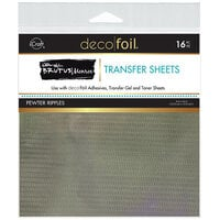 Therm O Web - iCraft - Deco Foil - 6 x 6 Transfer Sheets - Pewter Ripples - 16 Pack