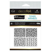 Therm O Web - iCraft - Deco Foil - 4.25 x 5.5 Toner Mixables - Floral Fantasy - 8 Pack