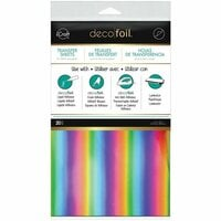 Therm O Web - iCraft - Deco Foil - 6 x 12 Transfer Sheet - Rainbow - 20 Pack