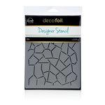 Therm O Web - iCraft - Deco Foil - 6 x 8 - Designer Stencil - Crackle